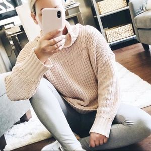 Blush Chenille Oversized Sweater